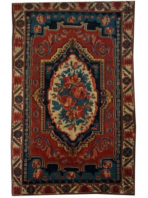 "Antique Persian Bakhtiari 5' 8"" x 8' 11"" Handmade Wool Area Rug - Shabahang Royal Carpet"