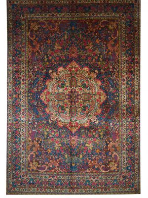 "Antique Persian Yazd 9' 2"" x 13' 3"" Handmade Area Rug - Shabahang Royal Carpet"