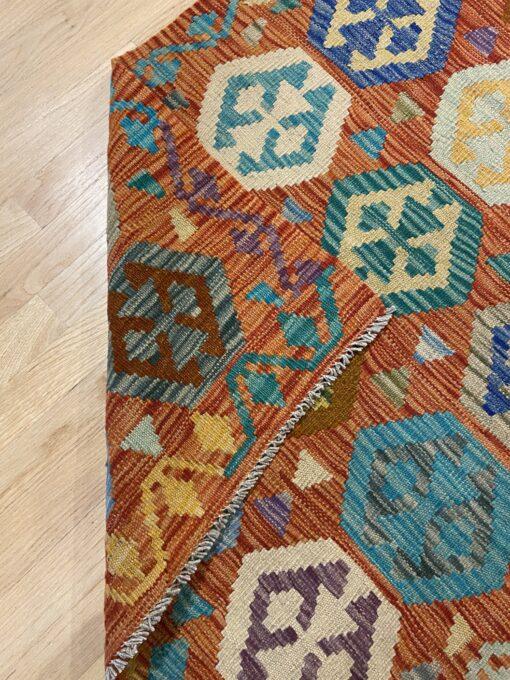 """Handmade Colorful Kilim Runner 2' 9"""" x 9' 8"""" - Shabahang Royal Carpet"""