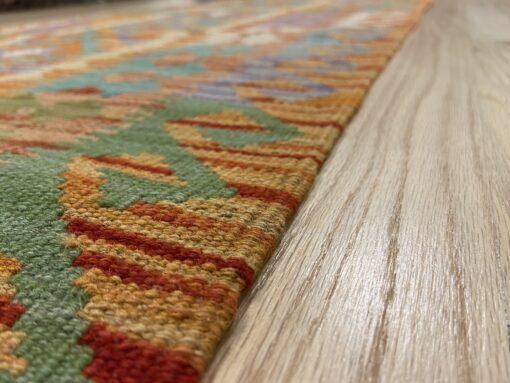 """Handmade Colorful Kilim Runner 2' 7"""" x 9' 7"""" - Shabahang Royal Carpet"""