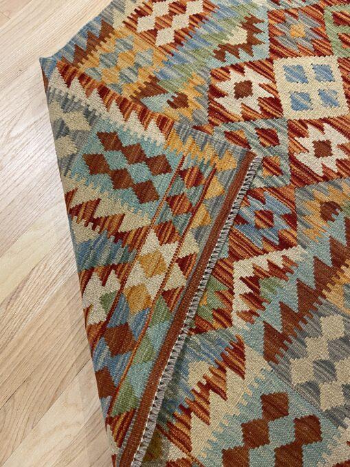 """Handmade Colorful Kilim Runner 2' 10"""" x 9' 9"""" - Shabahang Royal Carpet"""