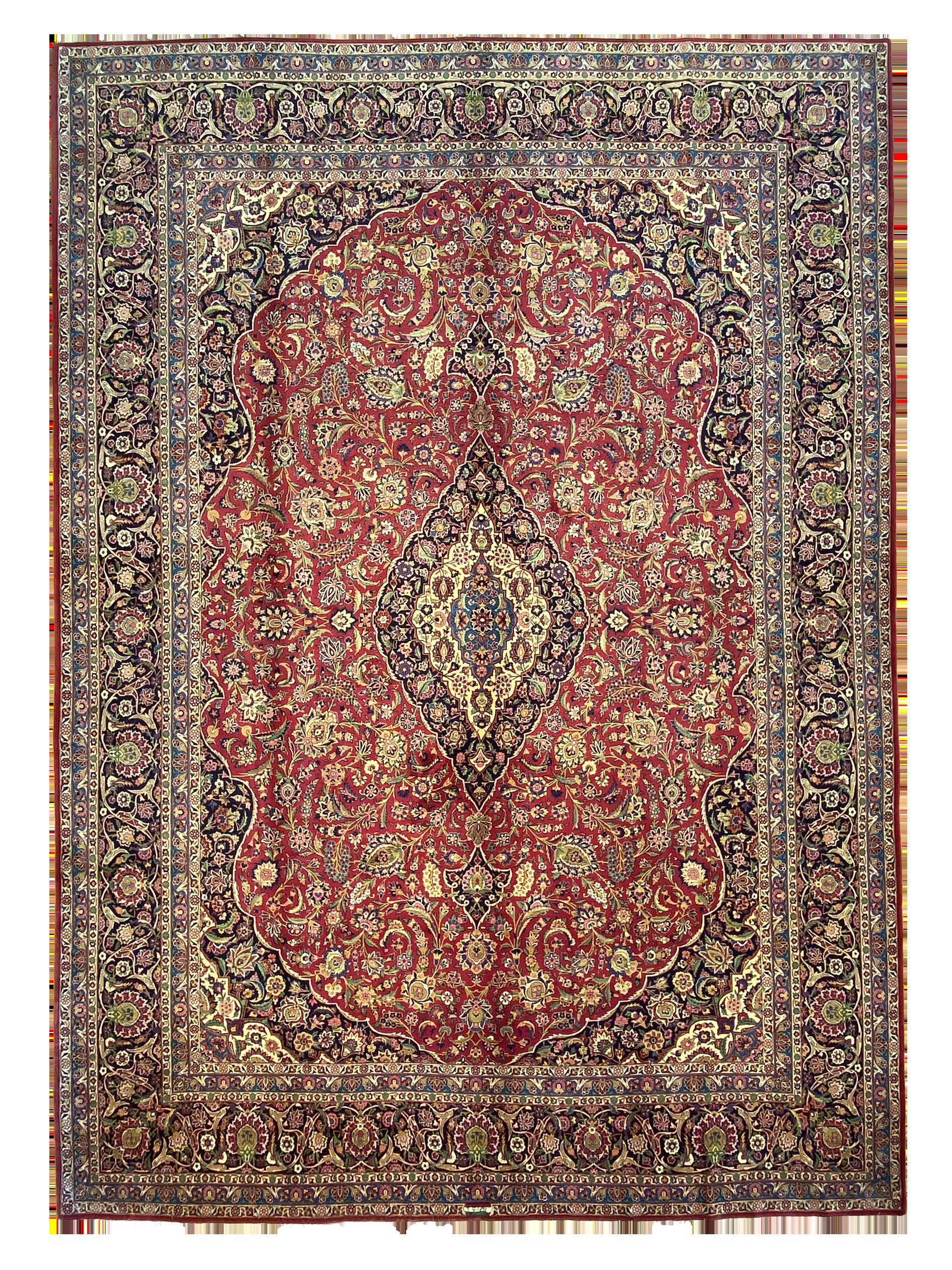 """Antique Persian Kashan 10' 4"""" x 14' 4"""" - Shabahang Royal Carpet"""