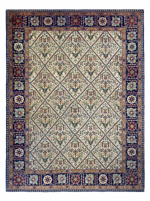 "Antique Persian Khoy 9' x 12' 4"" Handmade Area Rug - Shabahang Royal Carpet"