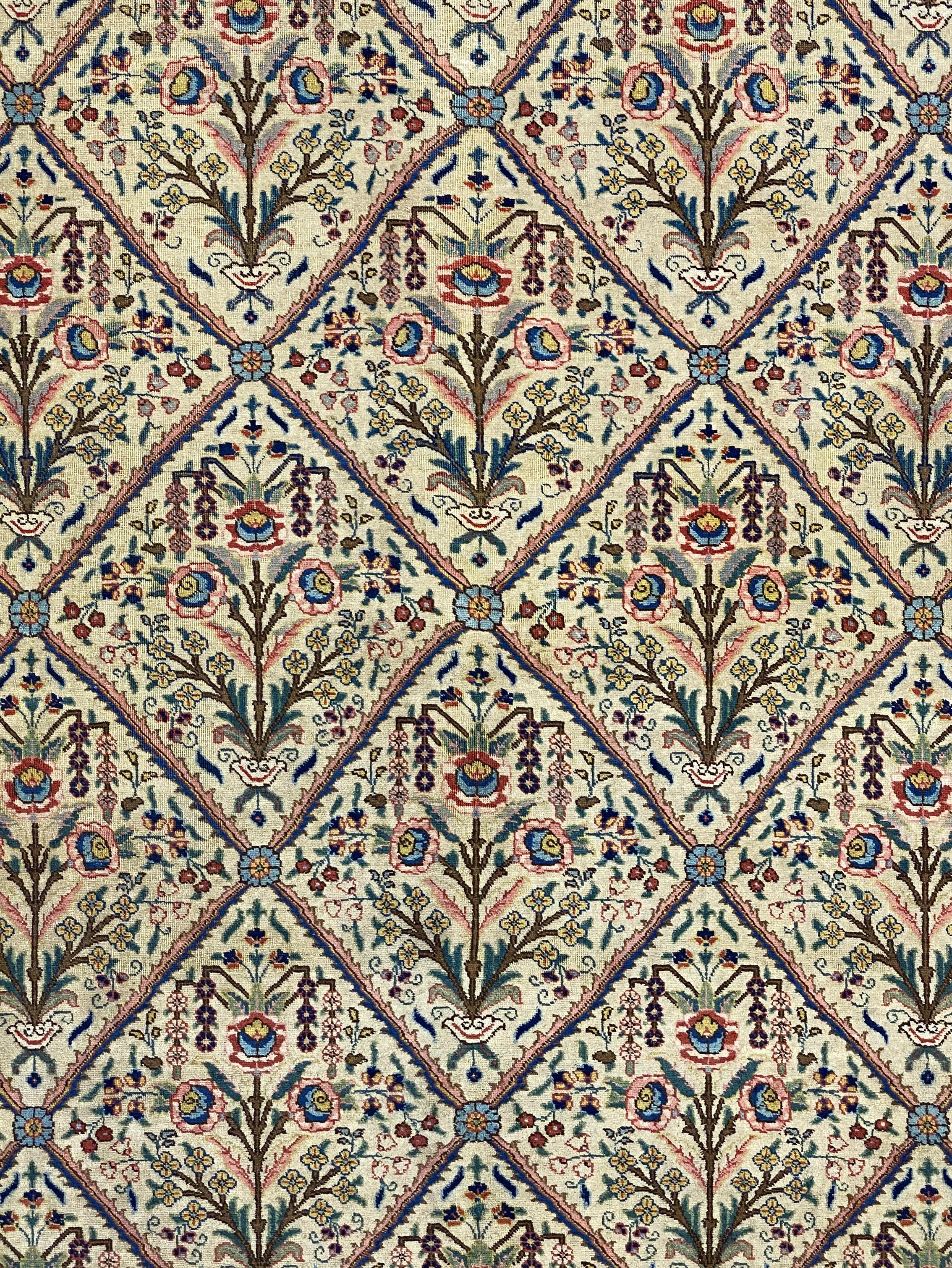"Antique Persian Khoy 9' x 12' 4"" Handmade Area Rug - Shabahang Royal Carpet"