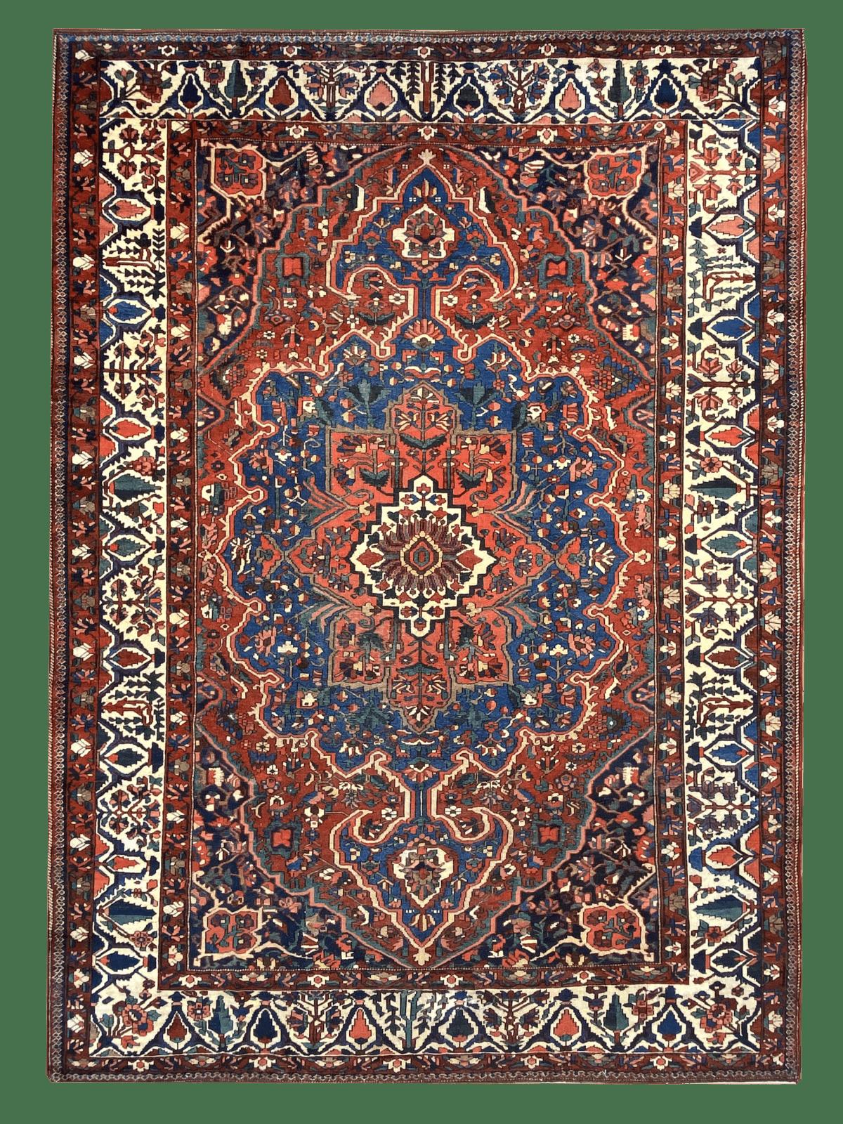 "Antique Persian Bakhtiari 10' 3"" x 14' Handmade Area Rug - Shabahang Royal Carpet"