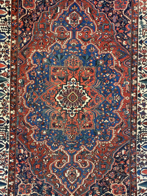 "Antique Persian Bakhtiari 10' 3"" x 14' Handmade Area Rug - Shabahang Royal Carpet"