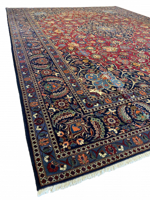 "Antique Persian Kashan 10' 6"" x 14' 3"" - Shabahang Royal Carpet"