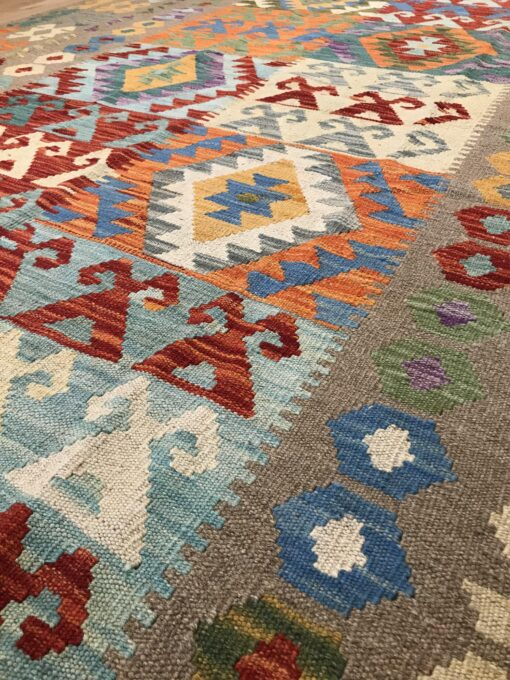 "Handmade Colorful Kilim 5' 8"" x 8' 3"" - Shabahang Royal Carpet"