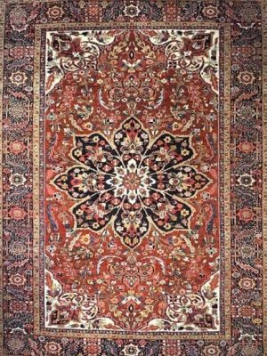 "Antique Persian Heriz 8' 8"" x 11' 10"" Handmade Area Rug - Shabahang Royal Carpet"