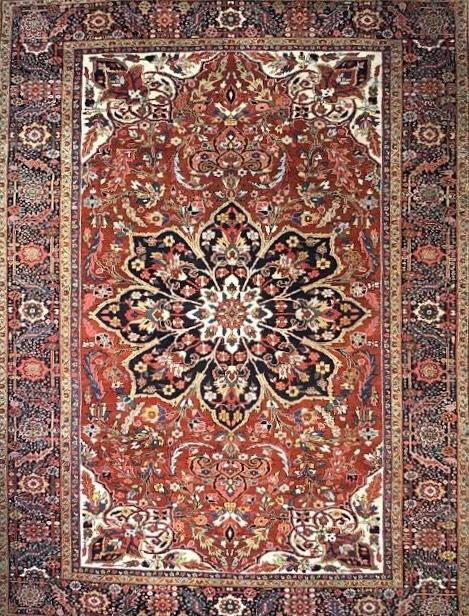 "Antique Persian Heriz 8' 8"" x 11' 10"" Handmade Area Rug - Shabahang Royal Carpet"