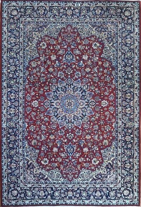 "Vintage Persian Esfahan 8' 9"" x 13' Handmade Area Rug - Shabahang Royal Carpet"