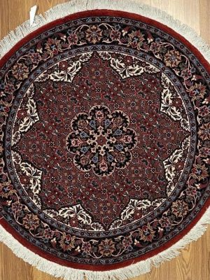 "Persian Bijar 3' 7"" x 3' 7"" Handmade Area Rug - Shabahang Royal Carpet"