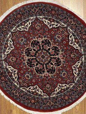 "Persian Bijar 3' 8"" x 3' 8"" Handmade Area Rug - Shabahang Royal Carpet"