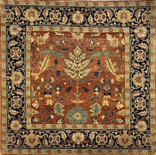 Heriz 4' x 4' Handmade Area Rug - Shabahang Royal Carpet