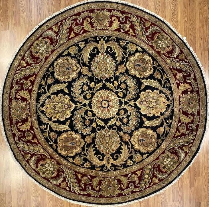 Agra 8' x 8' Handmade Area Rug - Shabahang Royal Carpet