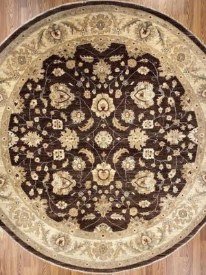 Peshawar 8' x 8' Handmade Area Rug - Shabahang Royal Carpet