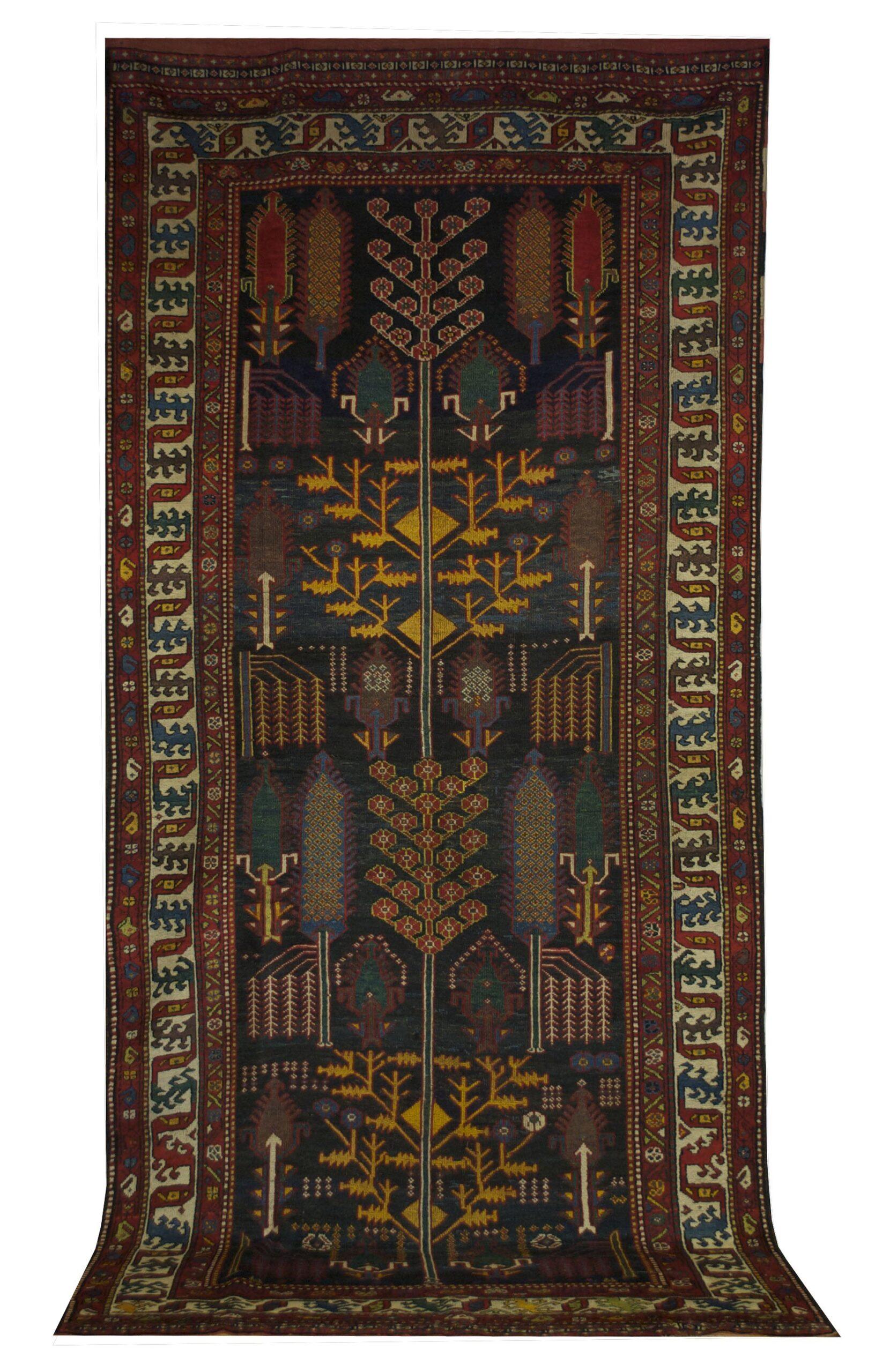 "Antique Persian Bakhtiari 5' 2"" x 11' 10"" - Shabahang Royal Carpet"