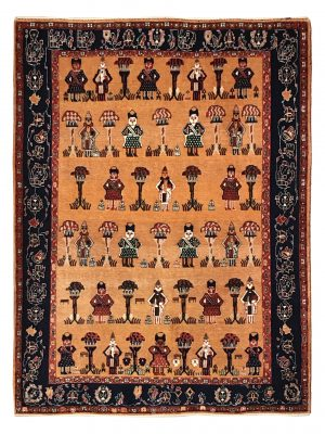 Persian Gabbeh 5' x 7' Wool Handmade Area Rug - Shabahang Royal Carpet