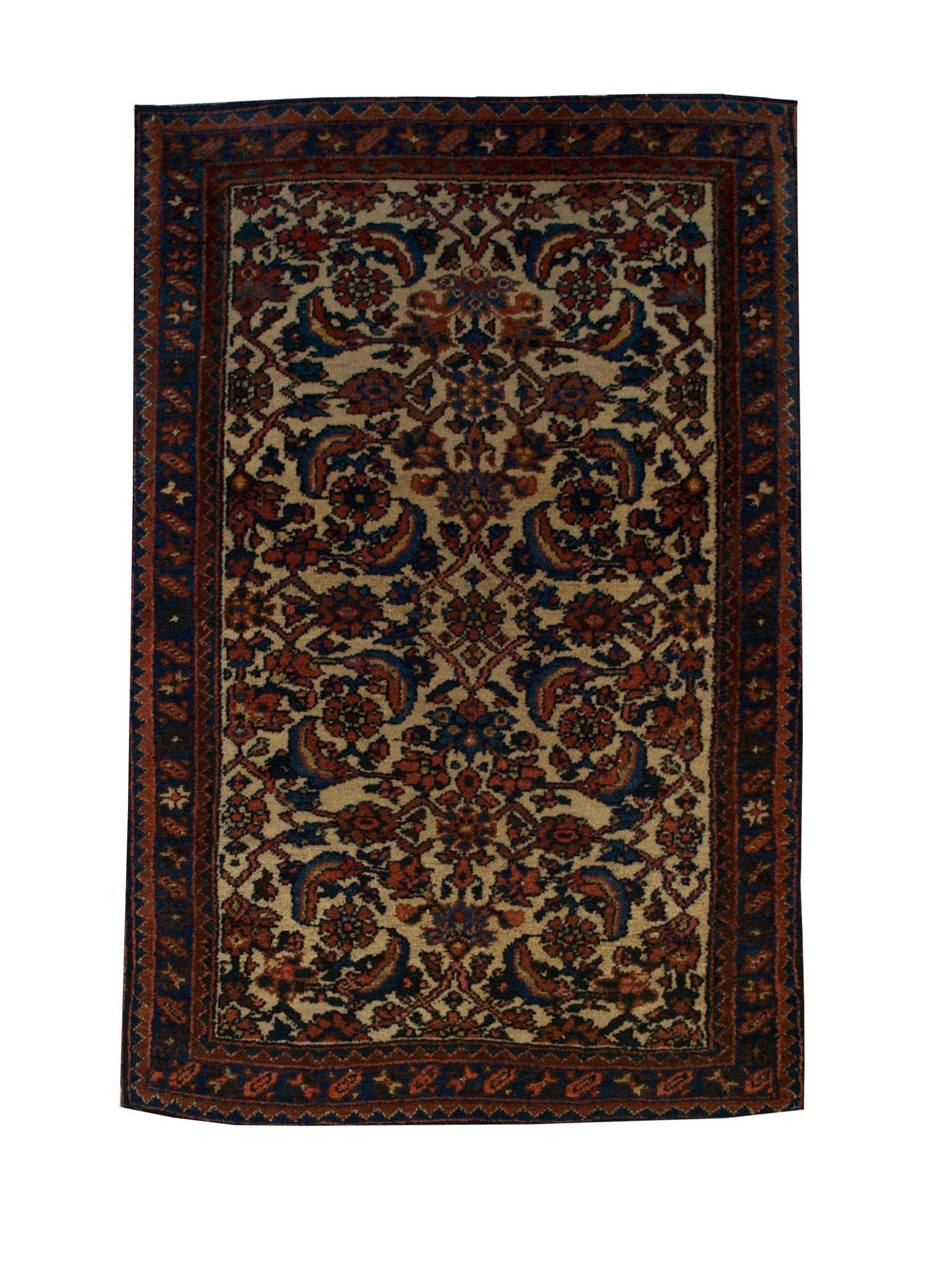 Antique Persian Hamadan Handmade Wool Area Rug - Shabahang Royal Carpet