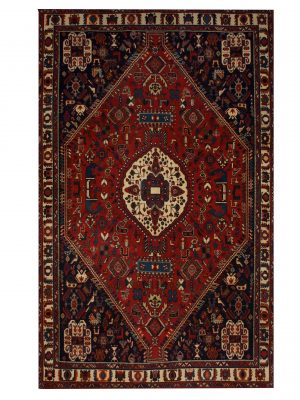 "Antique Persian Ghashghaei 5' 3"" x 8' 3"" Handmade Wool Area Rug - Shabahang Royal Carpet"