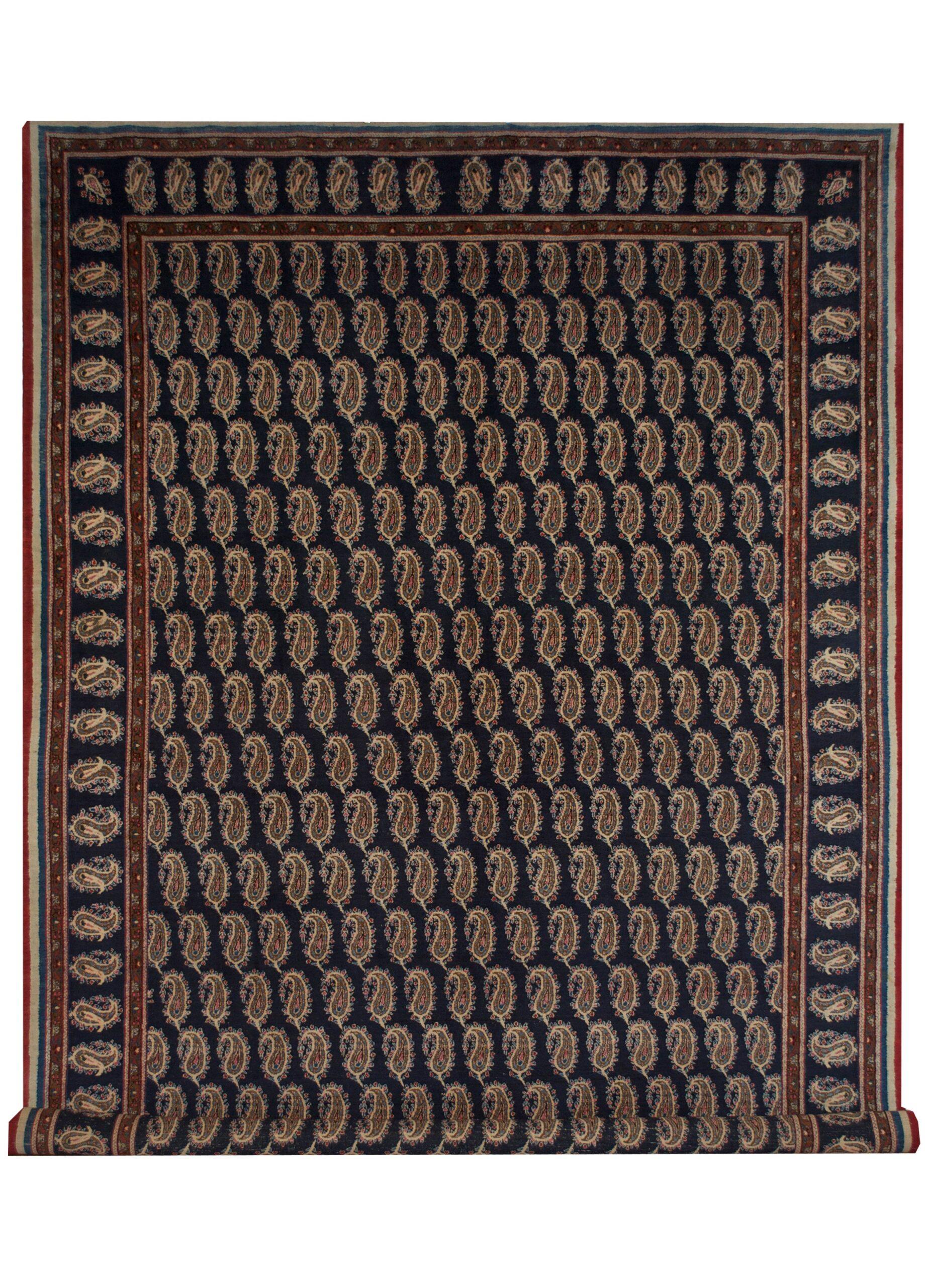 "Vintage Persian Mashad 8' 6"" x 12' 4"" Handmade Area Rug - Shabahang Royal Carpet"