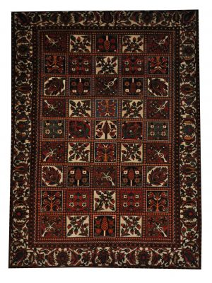 "Antique Persian Bakhtiari 4' 8"" x 6' 10"" Handmade Wool Area Rug - Shabahang Royal Carpet"