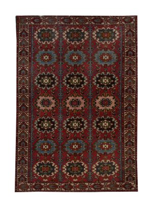 "Antique Persian Bakhtiari 4' 7"" x 6' 6"" Handmade Wool Area Rug - Shabahang Royal Carpet"