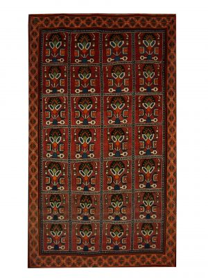 "Antique Persian Shiraz 4' 6"" x 7' 9"" Handmade Area Rug - Shabahang Royal Carpet"