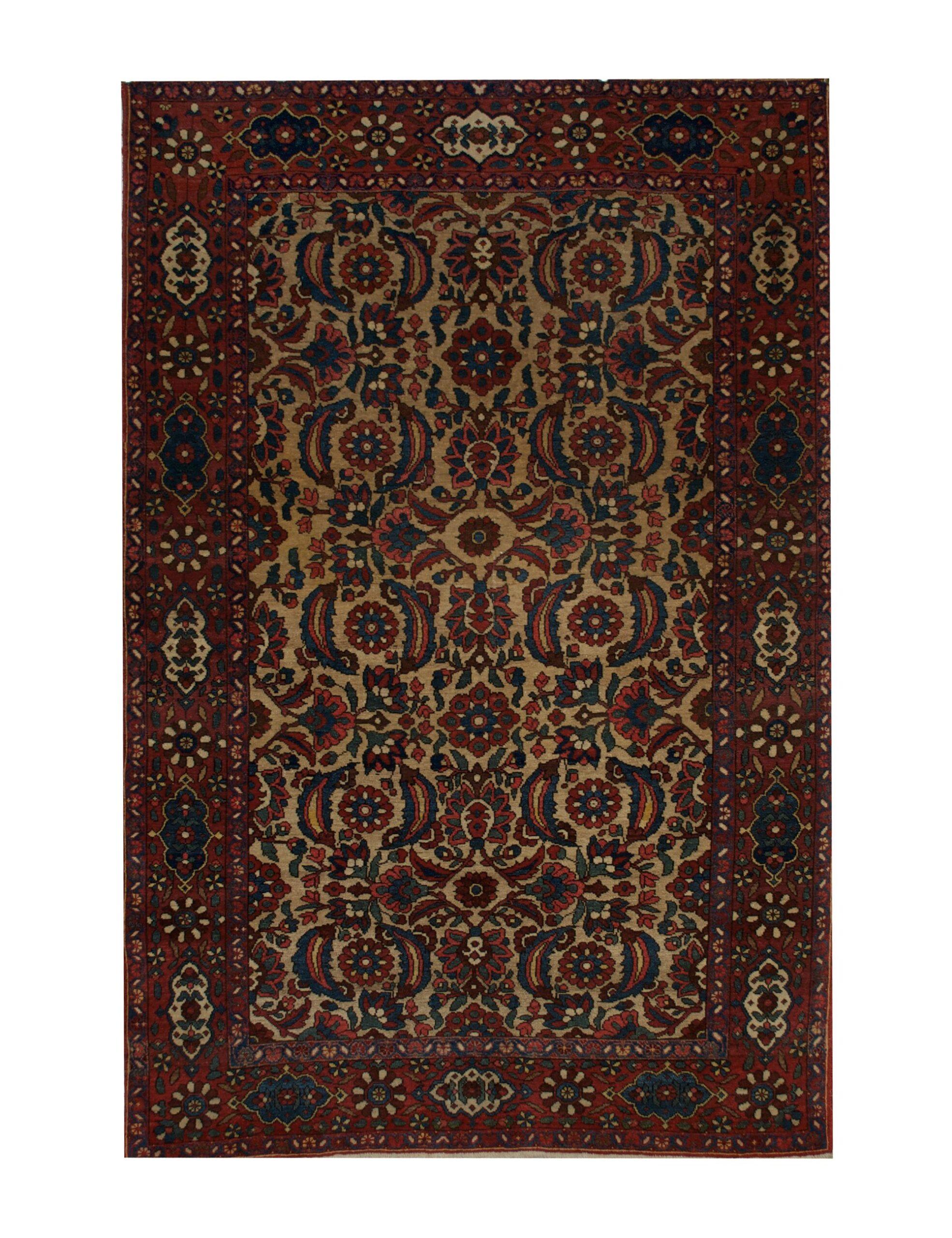 "Antique Persian Bakhtiari 4' 3"" x 6' 11"" - Shabahang Royal Carpet"