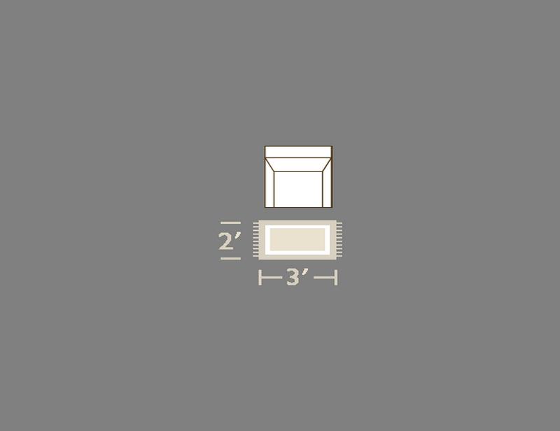2' x 3'